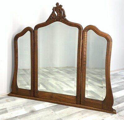 Impressive triple Rocaille French Mirror