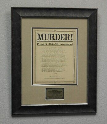 MURDER! Scarce Broadside Poster Announcing Lincoln's Assassination