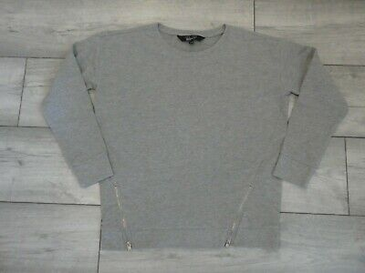 Girls Grey Sweatshirt With Zip Detail Bottom Age 12-13 Years From New Look