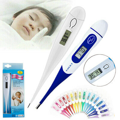 Digital Medical Body Thermometer Adult Child Baby Flexible Tip Temperature CE