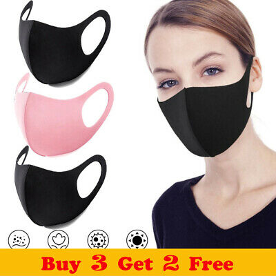 Women Mens Reusable Face Cover Safety Anti Dust Mouth Nose Pollution Filter Size