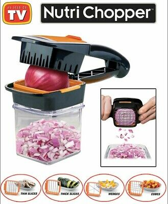 Nutri Chopper As Seen On TV 5-in-1 Handheld Kitchen Slicer, Just Squeeze & Chop!
