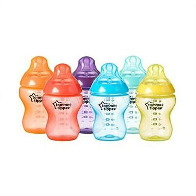 Tommee Tippee Closer to Nature Fiesta Baby Feeding Bottles Anti Colic Slow