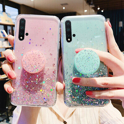 Starry Sky Glitter Case For Huawei Honor20 10Lite 8S 7A 9X 8A With Pop Up Holder