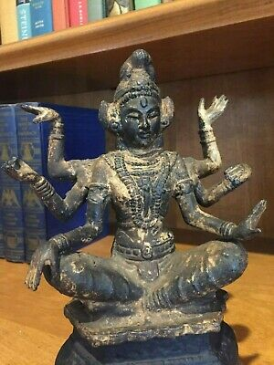 Important Bronze Buddha on Stand - 19th Century - Gorgeous Patina - Fine Casting