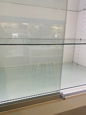 Retail Display Cabinets with glass shelves & locking Glass doors