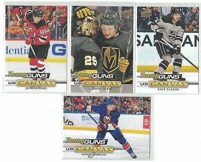 19-20 2019-20 Ud Series 2 Kale Clague #C212 Canvas Young Guns Rookie Card Sp H@T