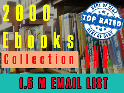 Mega Bundle : 2000 MRR and PLR Ebook Collection With 1.5 Million USA Email List