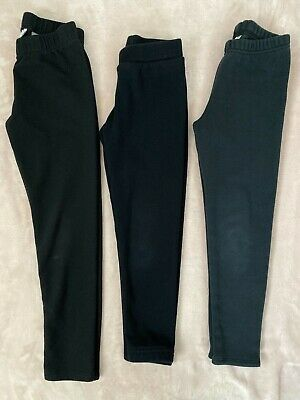 OshKosh Old Navy Girls Lot of 3 Leggings Sweatpants Pants Bottoms Size 7/8 Black