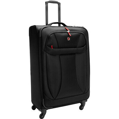 "SwissGear Travel Gear 7208 Lightweight 29"" Spinner Softside Checked NEW"