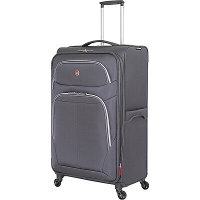 "SwissGear Travel Gear 29"" Spinner - Grey Softside Checked NEW"