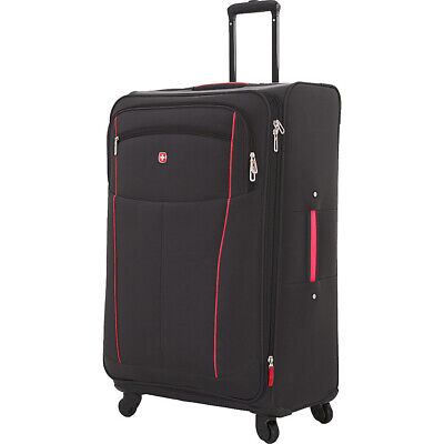 "SwissGear Travel Gear 6560 28"" Spinner Luggage 2 Colors Softside Checked NEW"