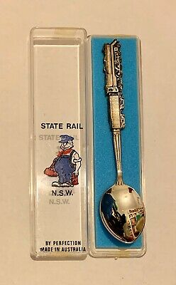 State Rail N.S.W. Souvenir Teaspoon boxed made in AUSTRALIA 70s/ 80s collectable