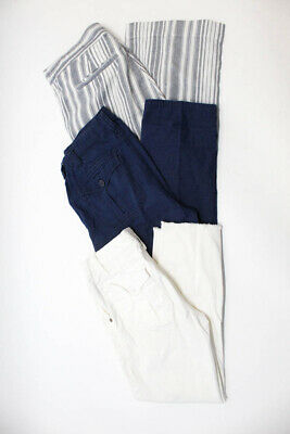 Sanctuary Womens Cotton Mid Rise Skinny Cropped Pants White Size 25 27 Lot 3