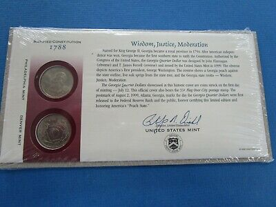 "1999 "" Wisdom, Justic, Moderation Quarters"" FDC ~ Q70 ~ in SEALED Envelope"