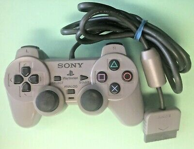 Official OEM Sony Playstation 1 PS1 Dual Shock Wired Controller Gray SCPH-1200