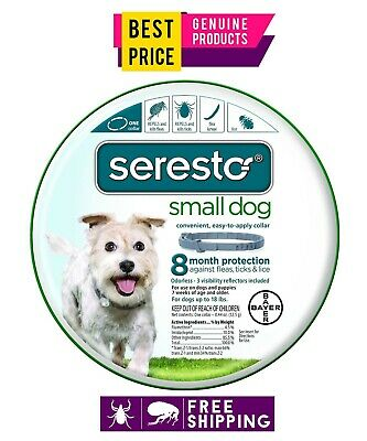 Bayer Seresto 8 Month Flea & Tick Prevention Collar for Small Dogs-Free Ship