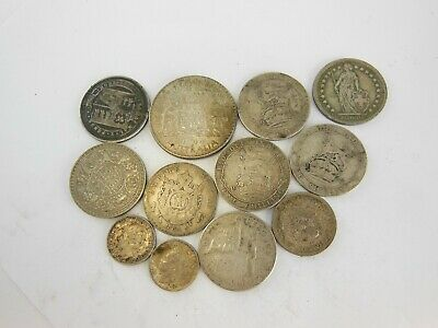 Vintage & Antique Silver World Coins - Lot of 12