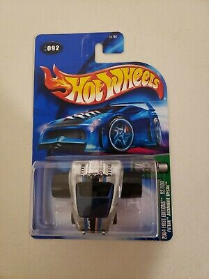 """2004 HOT WHEELS  /""""FIRST EDITIONS/"""" #092 = FATBAX JACKRABBIT SPECIAL = WHITE 0714C"""