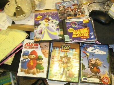 Lot Of 6 Dvds For Children:up/Alvin And The Chipmunks/Cinderellaoy Story 3/Readi