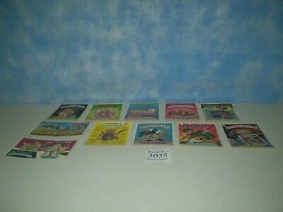 "Lot of 11 Original 1986 Garbage Pail Kids Post Cards Approx Size 6 7/8"" x 4 7/8"""