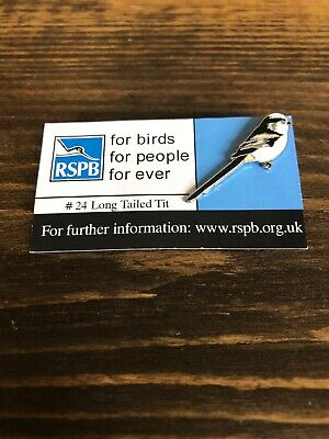 384 Rare RSPB pin badge – FBFPFE Long-tailed Tit # 24