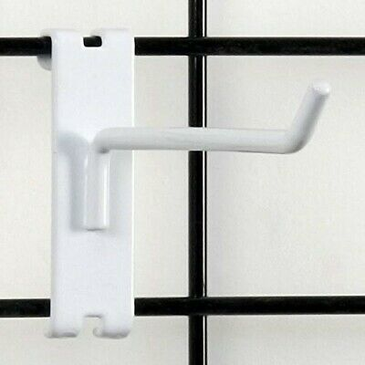 """Store Display Fixtures 10 NEW 4"""" LONG WHITE GRID WIRE PEG HOOKS"""