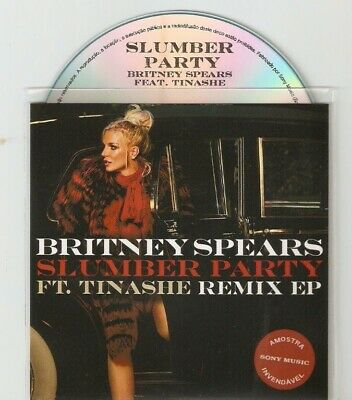 "BRITNEY SPEARS Ft TINASHE ""SLUMBER PARTY"" BRAZILIAN CD PROMO 8 REMIX CD PROMO"