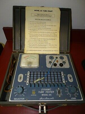 Superior Instruments Model 85, Dynamic Tube Tester, Working