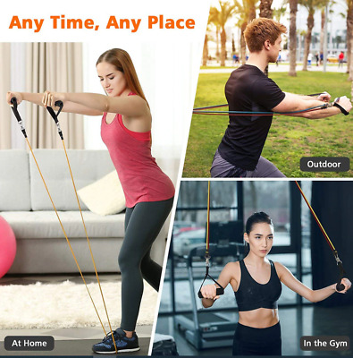 Elastic Resistance Band Rope Fitness Tube Stretch Train Exercise Yoga Workout