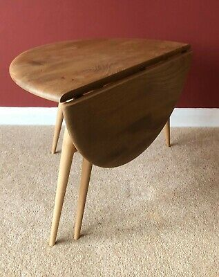 Mid Century Ercol Blonde Windsor Drop Leaf Occasional / Coffee Table 308