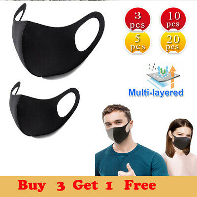 3/5/10Pc Women Men Reusable Breathable Face Mouth Nose Outdoors Product Cover UK