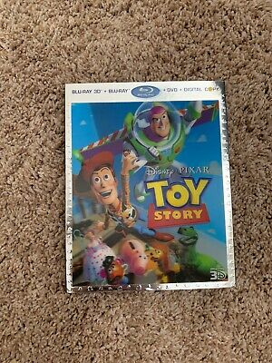 Toy Story (Blu-ray/DVD, 2011, 4-Disc Set) With Lenticular Case plus FREE
