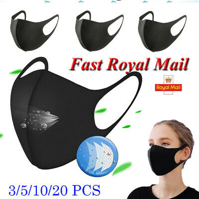 1-5*Breathable Anti Dust Protection Face Mouth Nose Cover Product Outdoors Tools