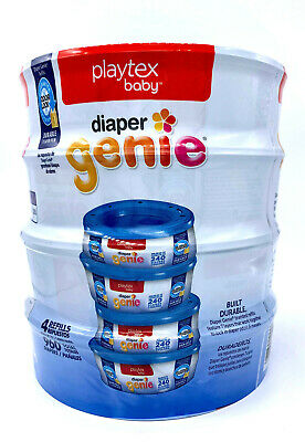 Playtex Baby Diaper Genie Refill Pack - 4 Refills of 240 Holds Up to 960 Diapers