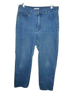 Womens Lee Classic Fit At The Waist Jeans Embroidered/bling Pockets Size 16Short