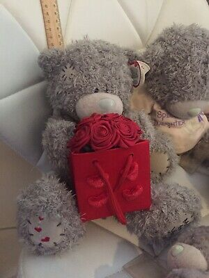 Taddy Teddy  One Available In These Photos The Bigger Bear With Basket Off Roses