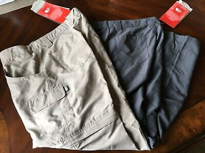 Two Pairs Of North Face Girls Xl 18 Convertible Pants Dune Beige, Pache Grey