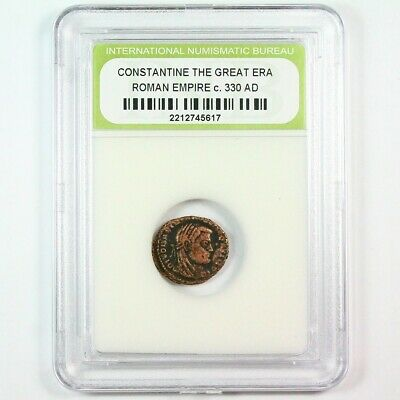 Slabbed Ancient Roman Constantine the Great Coin c. 330 AD Exact Coin Shown 6299