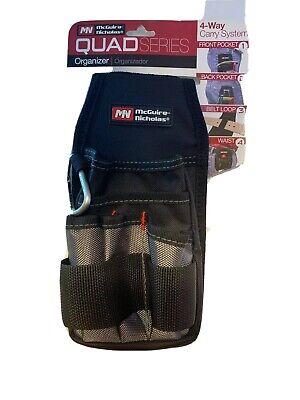 H Polyester  Tool Pouch  7 pocket Black  1 pc. W x 8 in McGuire Nicholas  8 in