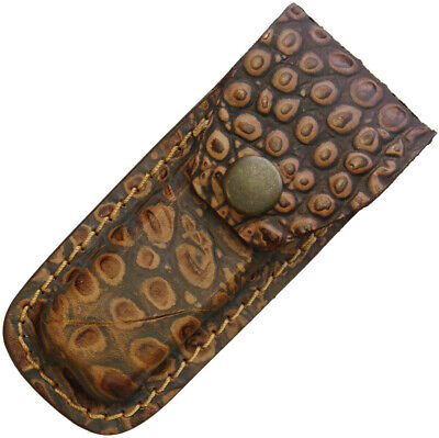 Sheaths--Leather Belt Pouch Alligator