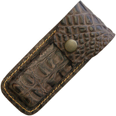 Sheaths--Leather Belt Sheath Crocodile