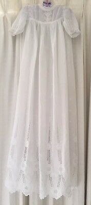 Vintage Christening dress with gorgeous whitework embroidery