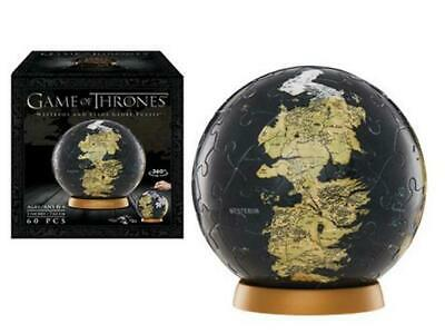 Game of Thrones Westeros and Essos 3D Jigsaw Globe Puzzle 4d Cityscape SEALED