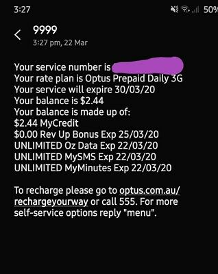 $3 a day optus plan sim card unlimited calls, txt, data etc up for bids. (Rare!)