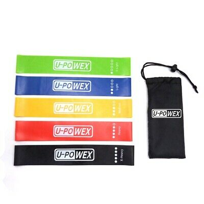 Resistance Loop Bands Natural Latex Exercise Yoga 5 Piece Core Balance Mode Gym