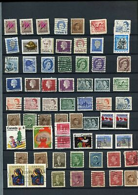 Canada Stockpage Full Of Stamps #W786