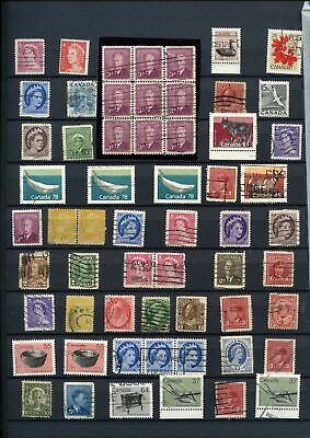 Canada Stockpage Full Of Stamps #W789