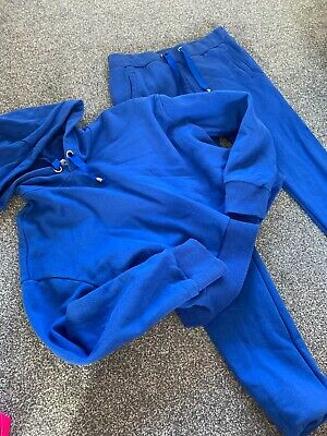 Girls Blue Crop Top Tracksuit Aged 12