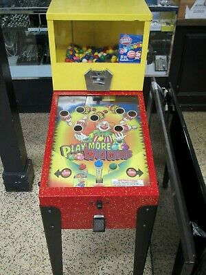 Pulse Industries Gumball Bouncy Ball Play More Win More Pinball Vending Machine